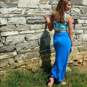 a.n.a blue maxi skirt